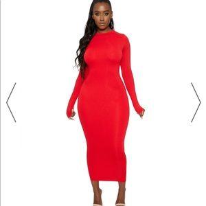 NWT naked wardrobe NW Maxi dress size small Red